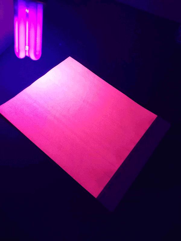 Neoninė rožinė UV kontrolinė juostelė